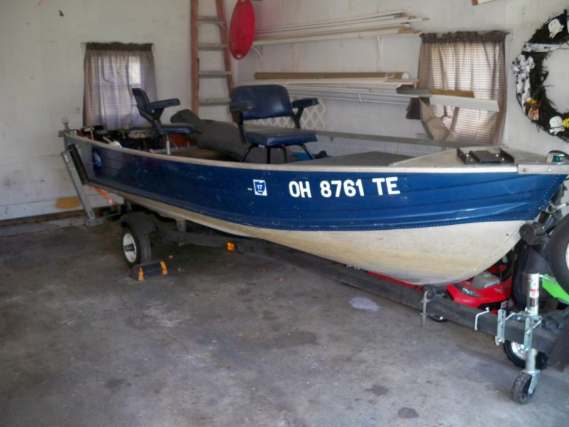 1976 blue fin 14ft ohio game fishing your ohio for Ohio game fishing