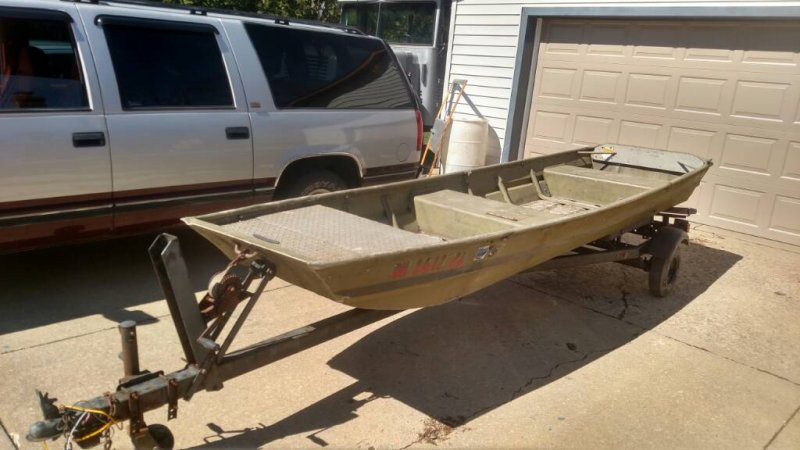 14 ft flat bottom boat and trailer ohio game fishing for Flat bottom fishing boats