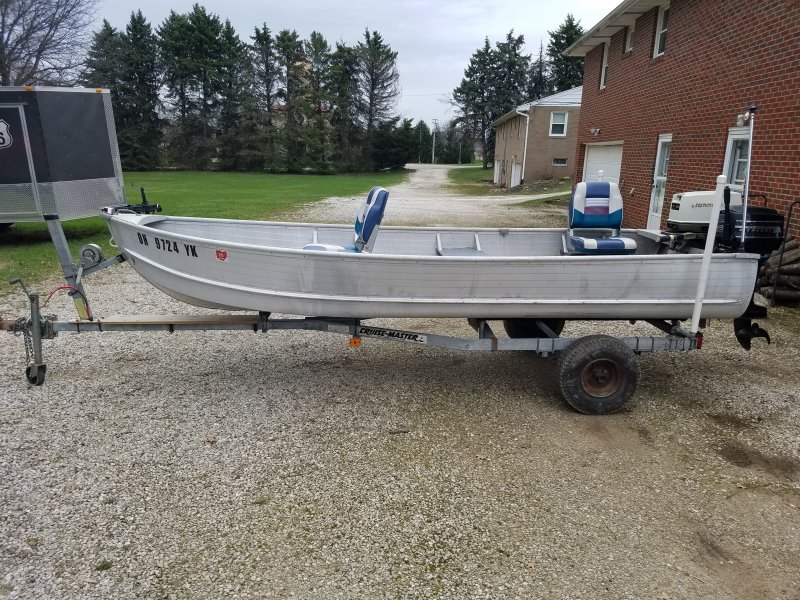 14 39 aluminum boat and two motors ohio game fishing Aluminum boat and motor packages