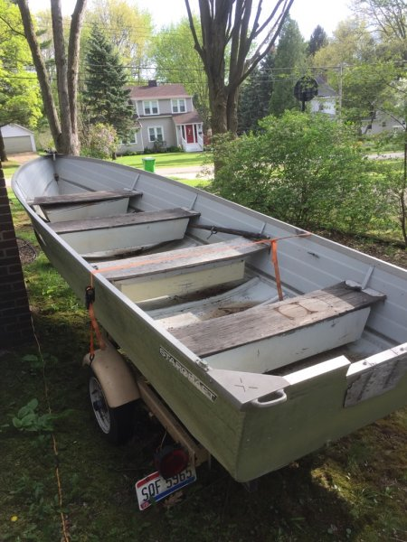 16 ft starcraft aluminum boat and trailer ohio game for 16 ft fishing boat