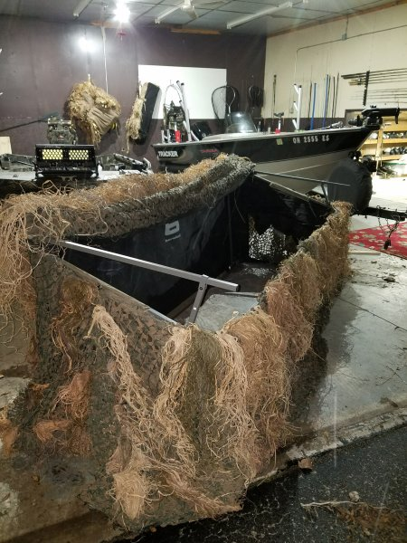 Banded Axe Combo Shore Boat Blind 400 Ohio Game Fishing