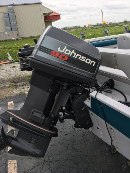 1995 90hp v4 Johnson outboard for sale | Ohio Game Fishing